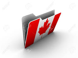 Flag Of Canada Folder Icon With Flag Of Canada On White Background Stock Photo