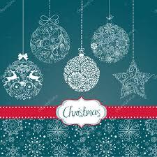 card with christmas ornaments u2014 stock vector alisafoytik 34062209