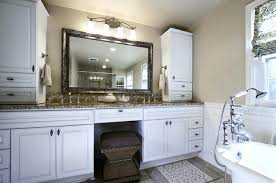 double sink vanity with middle tower beautiful double vanity with tower master double vanity bathroom