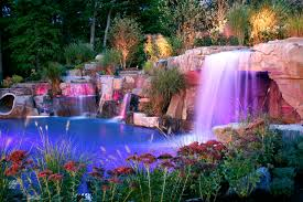 New Jersey waterfalls images Backyard swimming pools waterfalls natural landscaping nj jpg