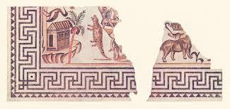 Ancient Roman Villa Floor Plan by Villelaure Roman Mosaics