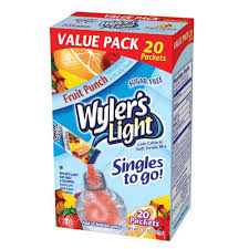 wyler s light singles to go nutritional information my brands wyler s light singles to go value pack fruit punch 20 ct