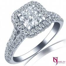 cushion cut engagement rings with halo 1 78 tcw e vs2 cushion cut split shank halo engagement