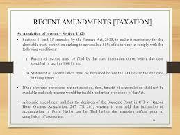 taxation of charitable trusts vaish associates advocates ppt