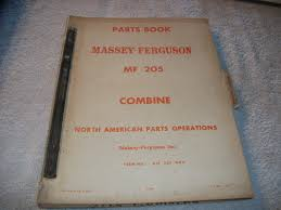 original massey ferguson mf 205 combine parts book manual u2022 53 99