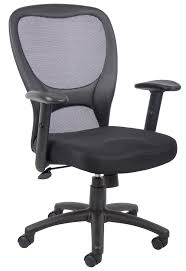Office Furniture Chairs Png Boss Basic Mesh Task Chair With Adjustable Arms B6508