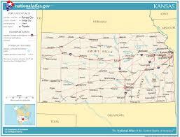 usa map kansas state united states geography for kansas