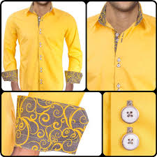 light yellow mens dress shirt bright yellow with grey contrast dress shirts