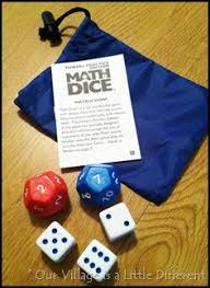 great review of math dice powers practice edition via catherine
