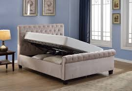king size ottoman beds uk flair furnishings lola 5ft kingsize mink fabric ottoman bed frame by