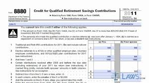 learn how to fill the form 8880 credit for qualified retirement