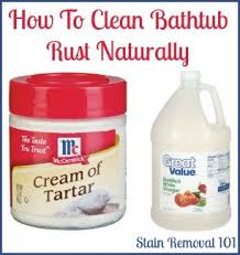 Orange Stains In Bathtub Removing Rust Stains From Bathtub Natural Home Remedies