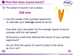 how fast does sound travel in air images Ks4 physics waves sound ppt video online download jpg