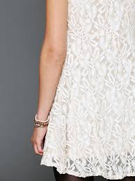 free people sleeveless miles of lace dress in natural lyst