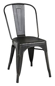Black Metal Bistro Chairs We Furniture Stackable Metal Cafe Bistro Chair