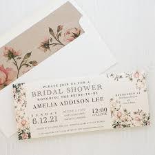 garden roses customizable bridal shower invites beacon lane