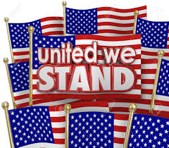 American Flag Words United We Stand Words Of Solidarity And Unity On American Or