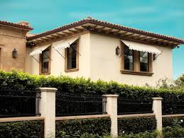 Outside Window Awnings Ball Tip Awnings Mediterranean Exterior Los Angeles By