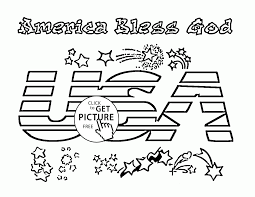 america bless god independence day coloring page for kids