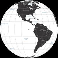 map of and south america black and white editable globe map and south america centered black and