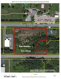 Wisconsin Gis Maps by City Of Mosinee Central Wisconsin Business Park