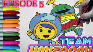 team umizoomi coloring book episode 5 milli bot coloring