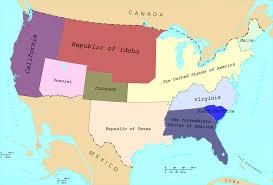 Alternate History Maps Image Us Map States Copy Png Alternative History Fandom