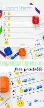 fingerprint caterpillars craft simple crafts free printable and