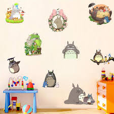 popular totoro bedroom buy cheap totoro bedroom lots from china diy kids bedroom kawaii totoro wall stickers removable 3d wall pictures for living room baby room