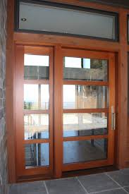 tremendous modern entry doors for home with wooden sash frame and