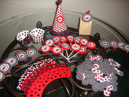 baby shower decorations red and black trellischicago