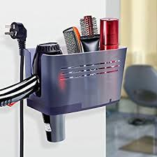 Hair Dryer And Flat Iron Holder Wall Mount pojjo vvb curling iron dryer and flat iron