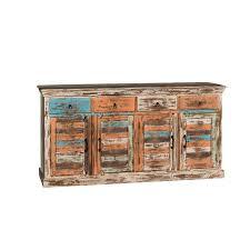 credenza prezzo credenza colorata legno riciclato vendita prezzo outlet on line