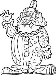 creepy clown coloring pages kids coloring