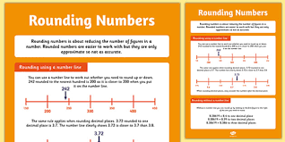 large rounding numbers poster rounding number display