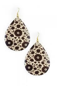 nickel earrings floral enamel teardrop earrings nickel free hypoallergenic earrings