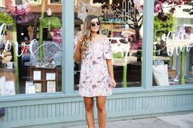 the cutest spring off the shoulder dress ootd daily dose of charm