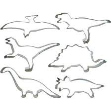 dinosaur cookie cutter set tin