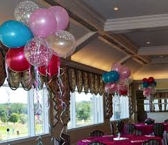 sweet 16 table centerpieces balloon centerpieces