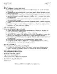 restaurant server resume restaurant server resume template food free collaborativenation