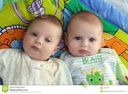 two baby boys twins stock