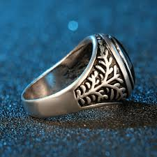 blue rock rings images Online shop punk rock rings for men personality fine jewelry jpg