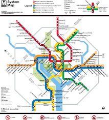 washington dc airports map official map washington d c metro system transit maps
