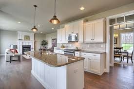 one wall kitchen with island traditional kitchen with flat panel cabinets complex granite