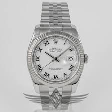 rolex oyster bracelet stainless steel images Rolex datejust 36mm stainless steel case white gold fluted bezel jpg