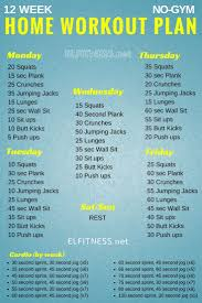 home work out plans 12 week no gym home workout plans work outs pinterest workout