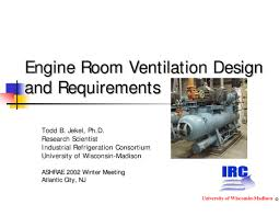engine room ventilation design and requirements ventilation