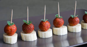 canapes fruit strawberry canapes stock image image of gourmet healthy 52038669