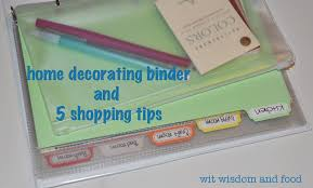creating a home decorating binder wit wisdom u0026 food