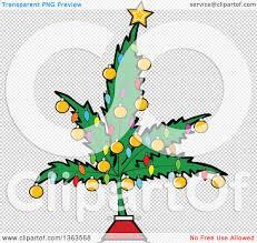 clipart of a cartoon marijuana pot leaf weed christmas tree
